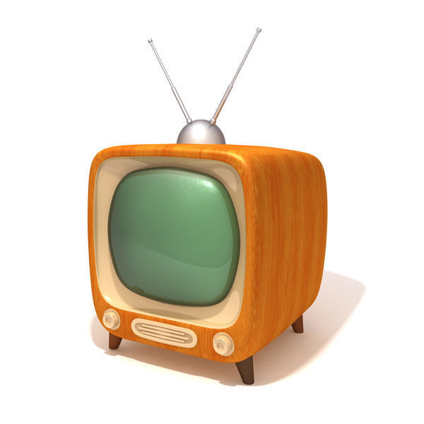 tv retro television 3d asset cgtrader