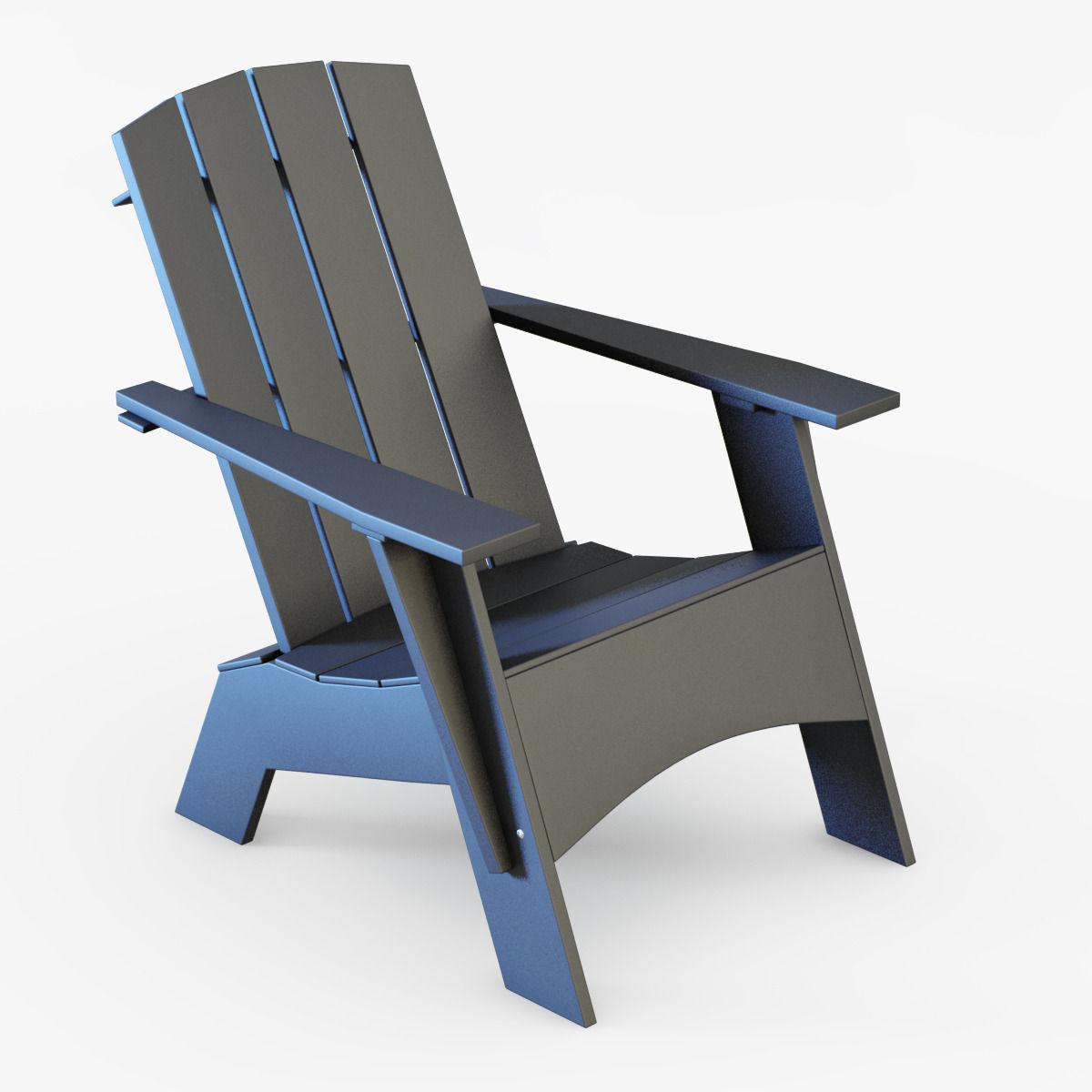 4 Slat Tall Adirondack Chair 3d Model Max Obj 3ds Fbx Dxf Mtl 1 ...