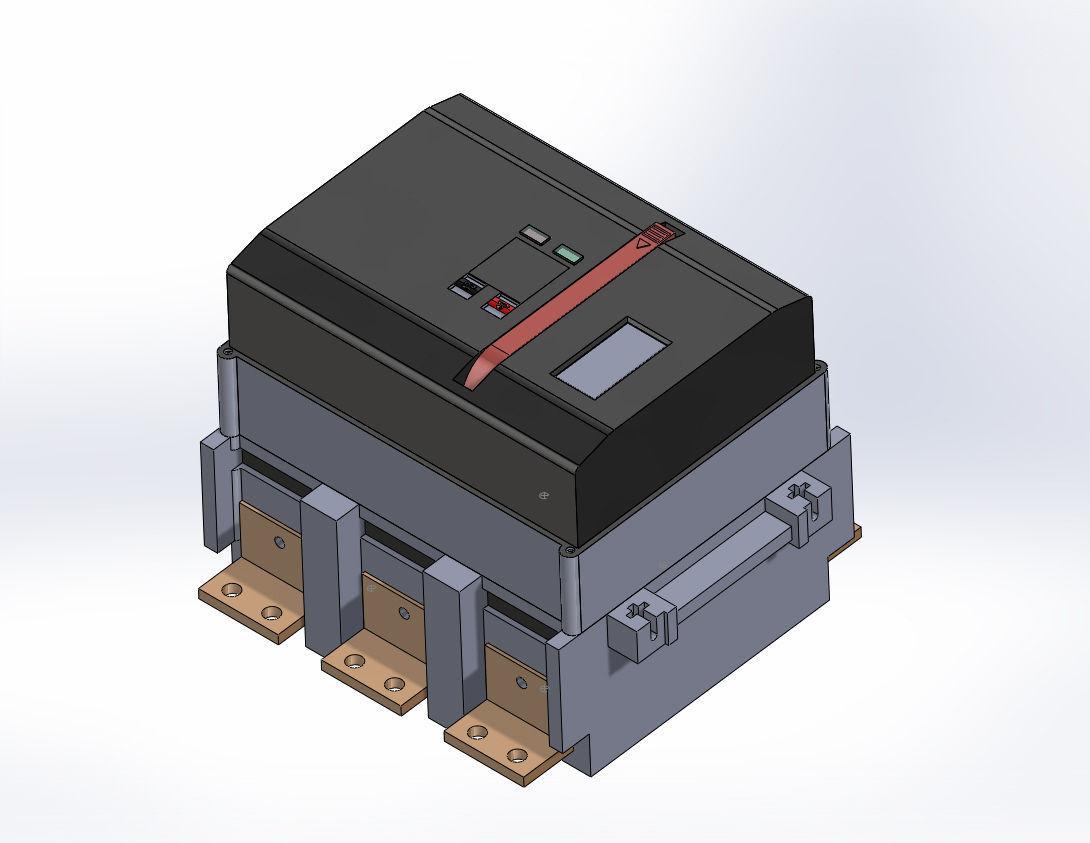 Ge Power Break Ii Circuit Breakers 2000amp 3d Model Sldprt