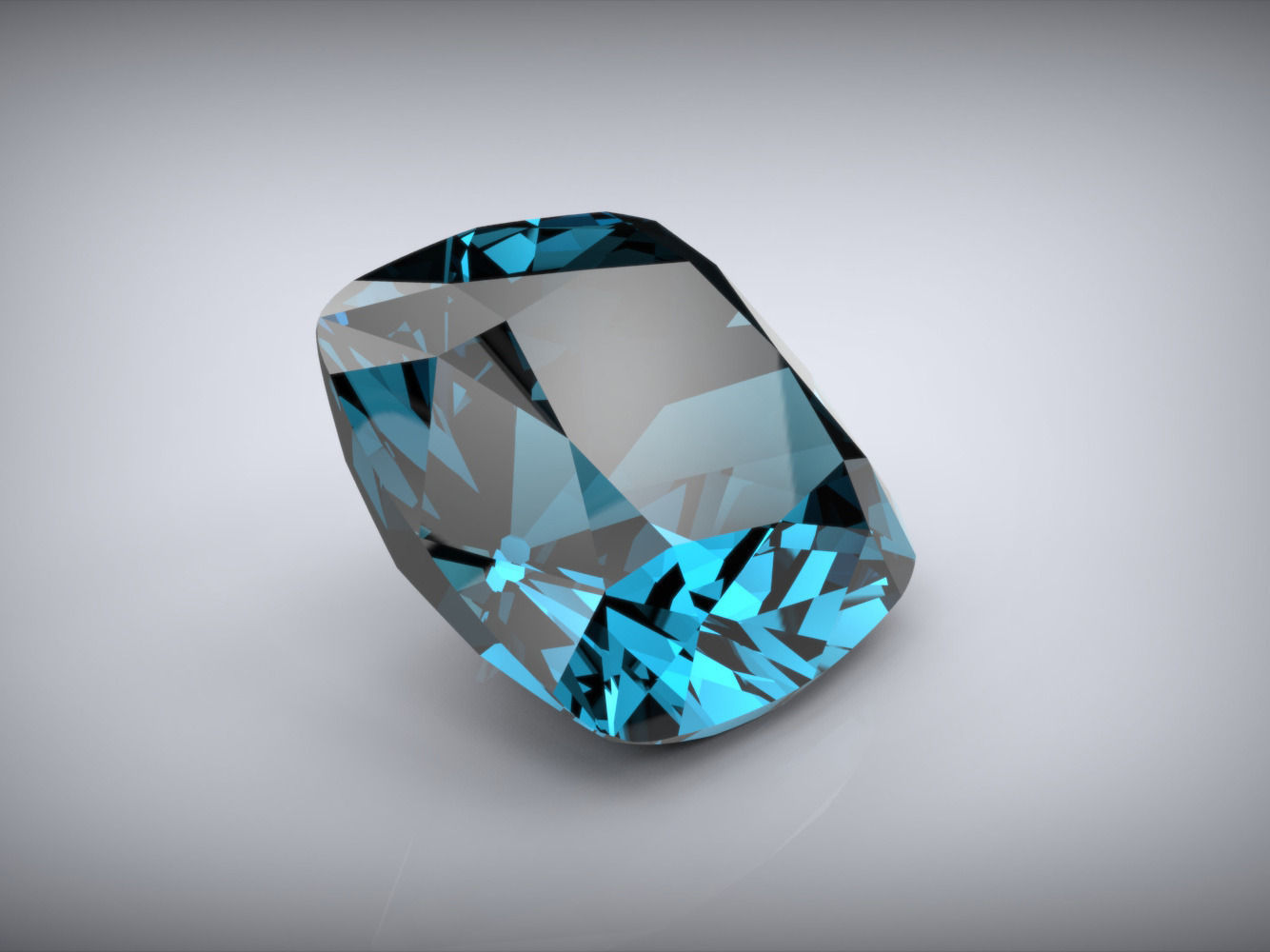 Cushion Cut Gem 10mm 3d Model Free 3d Model 3d Printable