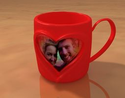 3D printable model Couple In a Heart Cup