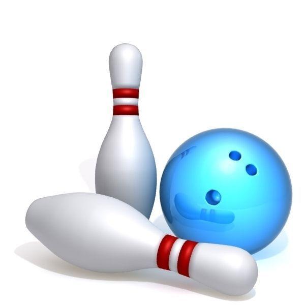 3d model bowling pins and ball cgtrader