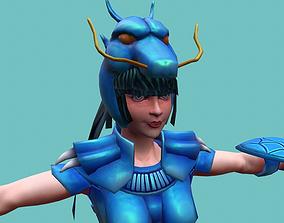 Armor Girl Dragon Seiya 3D asset