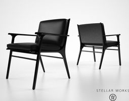 3d stellarworks ren dining chair