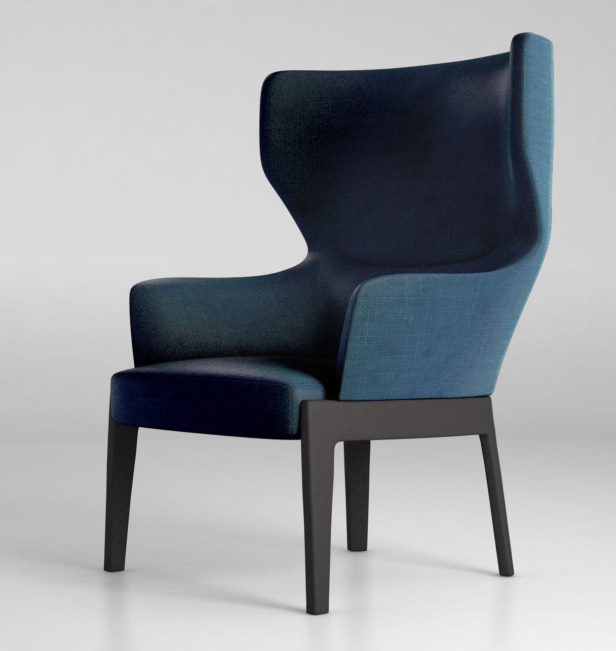 Molteni chelsea armchair 3d model max obj mtl tga mat for Molteni furniture