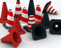 street cones 3d model