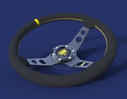 3d model omp steering wheel
