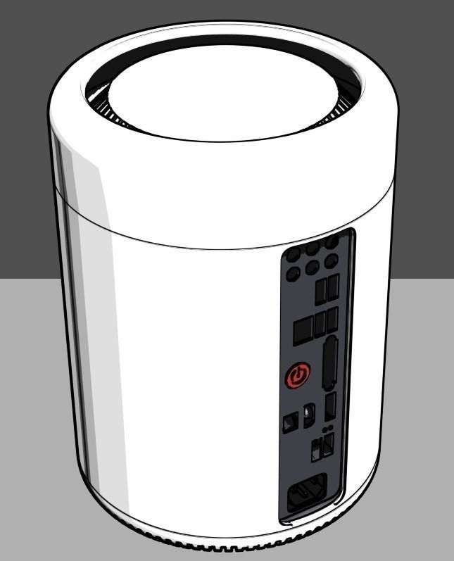Full Printable ITX Case Mac Pro 2013 style