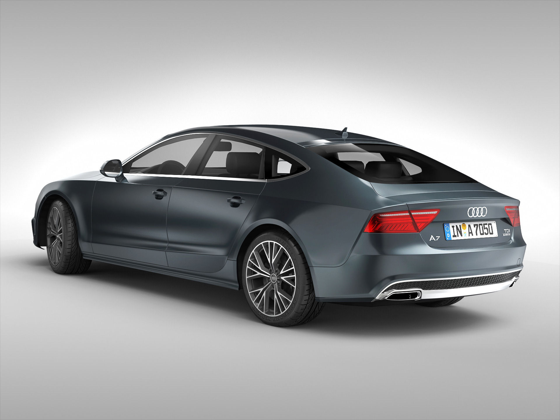audi a7 sportback 2015 3d model max obj 3ds fbx. Black Bedroom Furniture Sets. Home Design Ideas