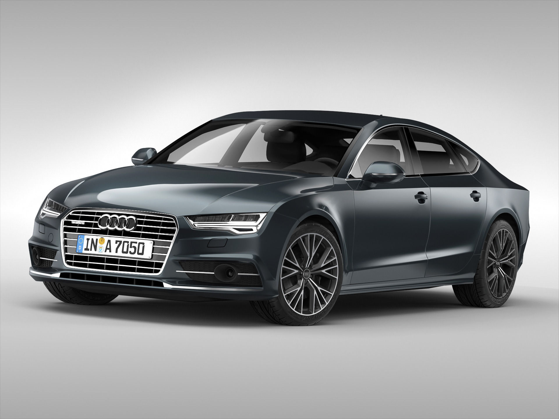 3D model Audi A7 Sportback 2015   CGTrader