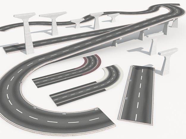 road collection 1 3d model max obj fbx c4d mat 1