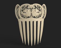 medieval comb 3d model stl