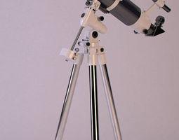 3D model low-poly telescope celestron
