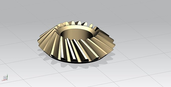 Bevel Gear Animation : Bevel gear with nx free d model