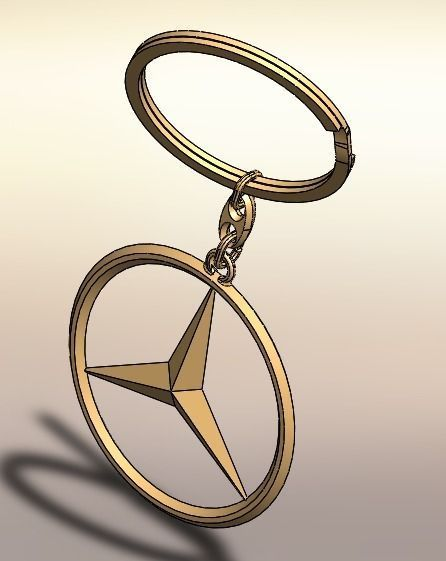 Mercedes key ring free 3d model sldprt sldasm slddrw for Mercedes benz ring