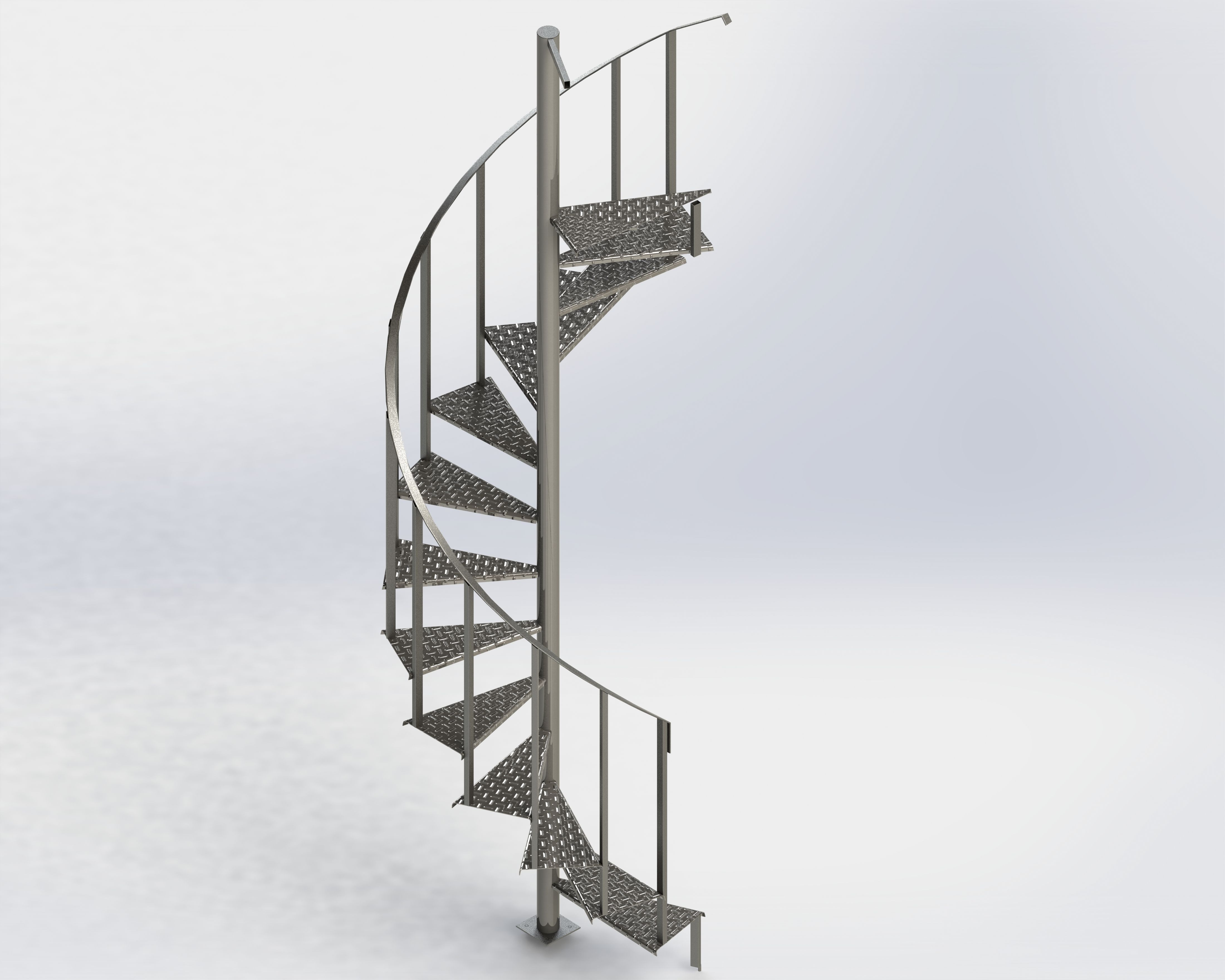 how to build a spiral staircase in sketchup
