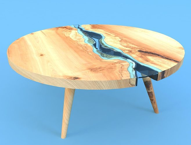 Greg Klassen Round River Coffee Table 3d Cgtrader