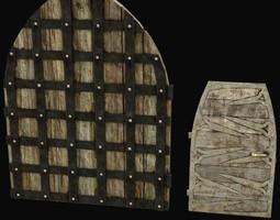 medieval doors 3d model max obj 3ds fbx