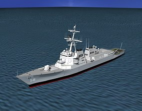 Burke Class Destroyer DDG 58 USS Laboon 3D