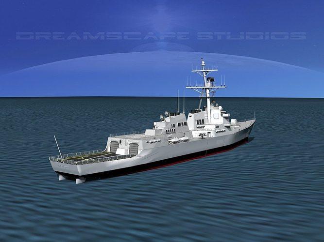 burke class destroyer ddg 68 uss the sullivans 3d model max 3ds lwo lw lws dxf stl 3dm 1