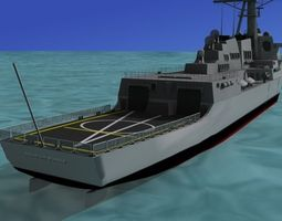 burke class destroyer ddg 81 uss winston s churchill 3d rigged