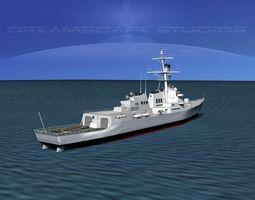 Burke Class Destroyer DDG 88 USS Preble 3D model