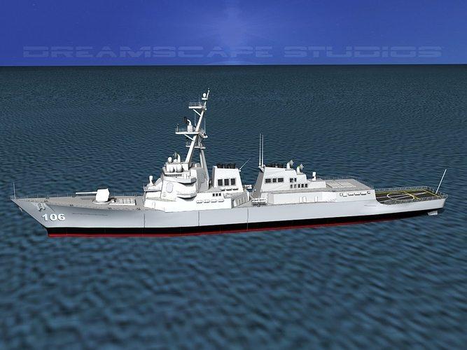 burke class destroyer ddg 106 uss stockdale 3d model max 3ds lwo lw lws dxf stl 3dm 1