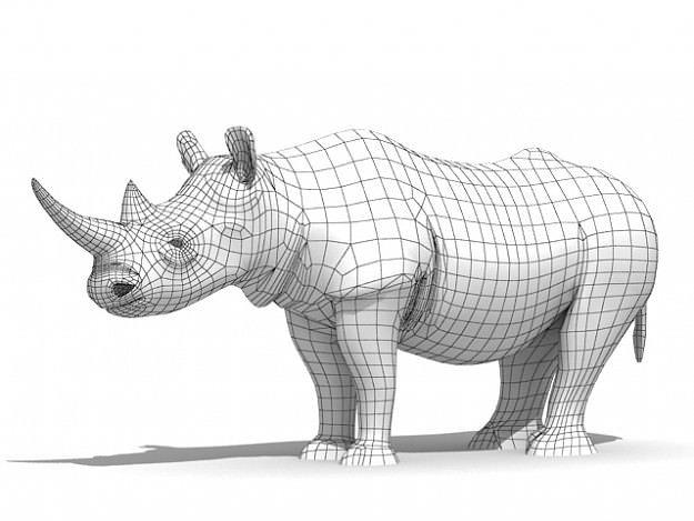Rhinoceros 3d Model Max Obj 3ds Fbx C4d Mtl Cgtrader
