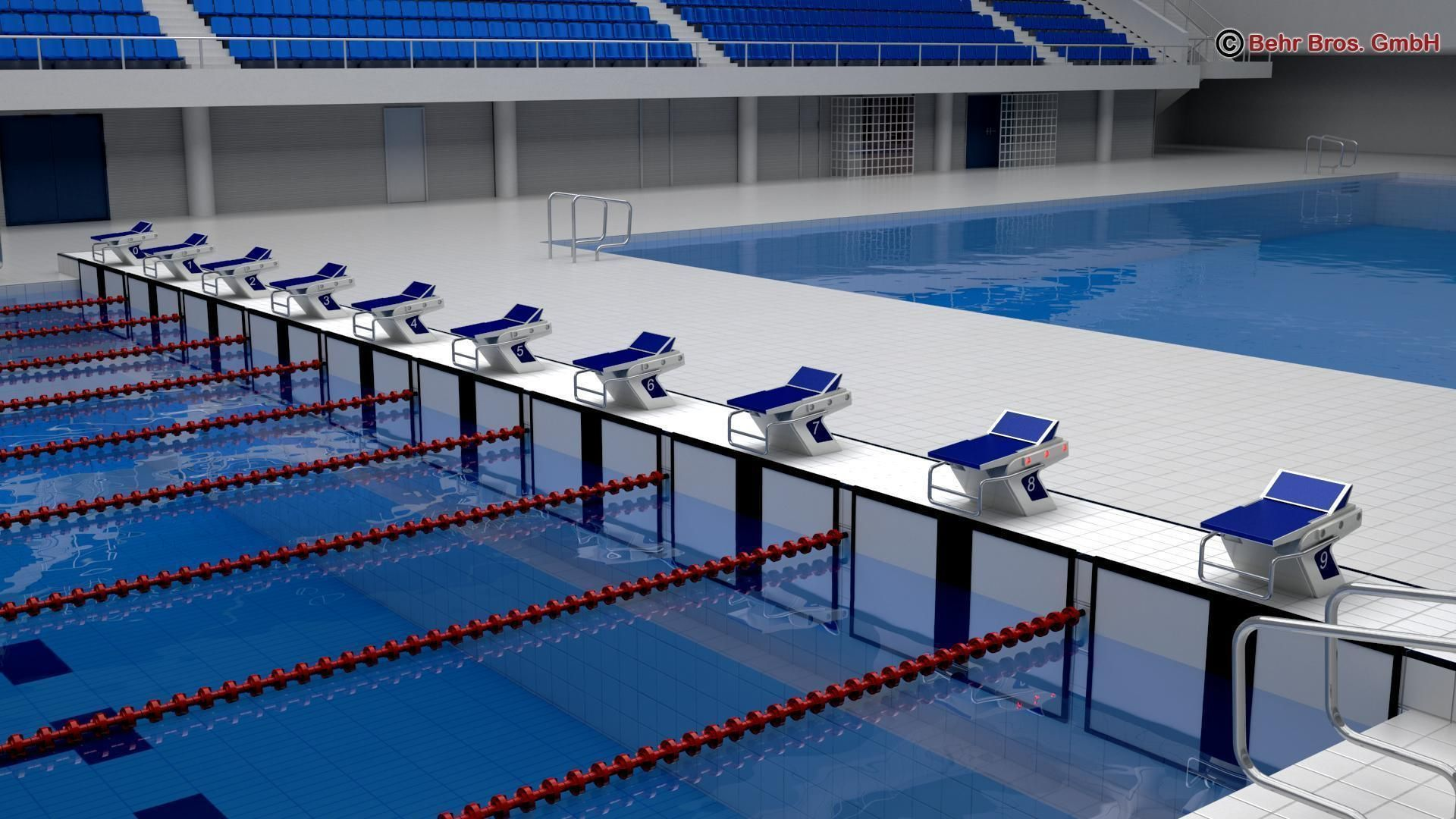 swim stadium 3d model max obj 3ds fbx c4d lwo lw lws 4