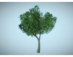 low poly tree 3D model low-poly green