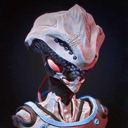 alien  3d model obj mtl 1