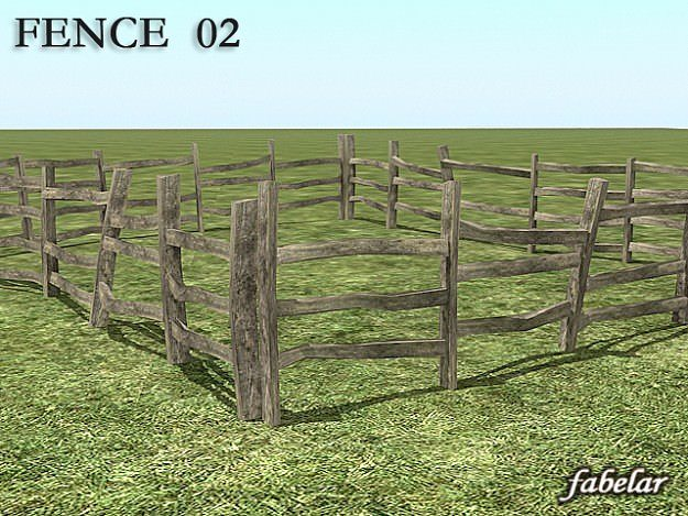 Fence 8 in 1 3d cgtrader for 3d fence