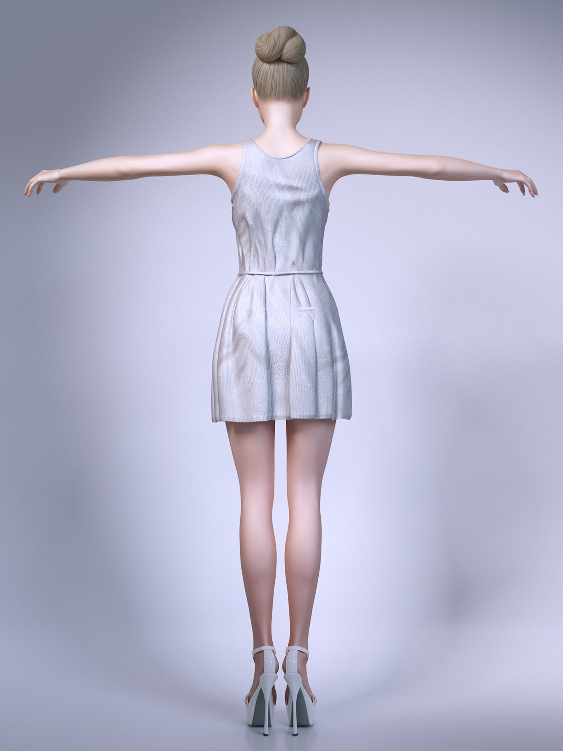 3d Models For Poser And Daz Studio: Girl Wearing Summer Dresses 3D Model MAX OBJ FBX
