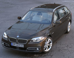 3d bmw 5 series touring 2014 animated