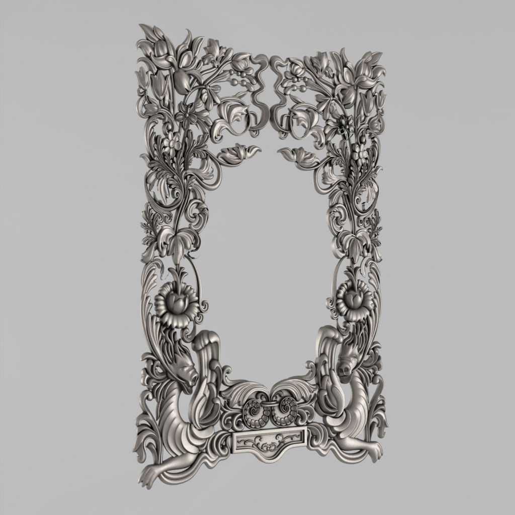 3D print model Frame for the mirror | CGTrader