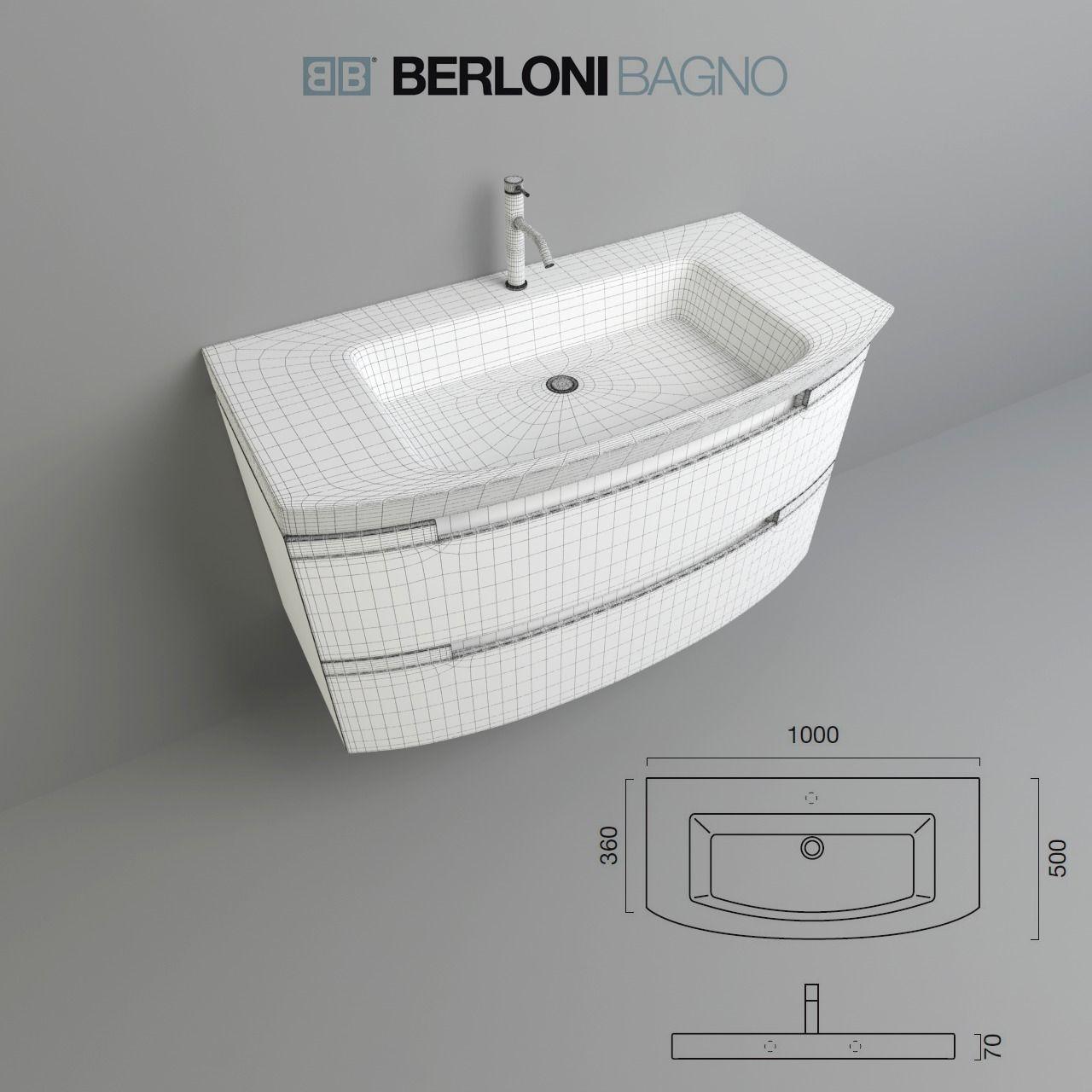 Berloni bagno moon 3d model max obj fbx for Berloni bagno