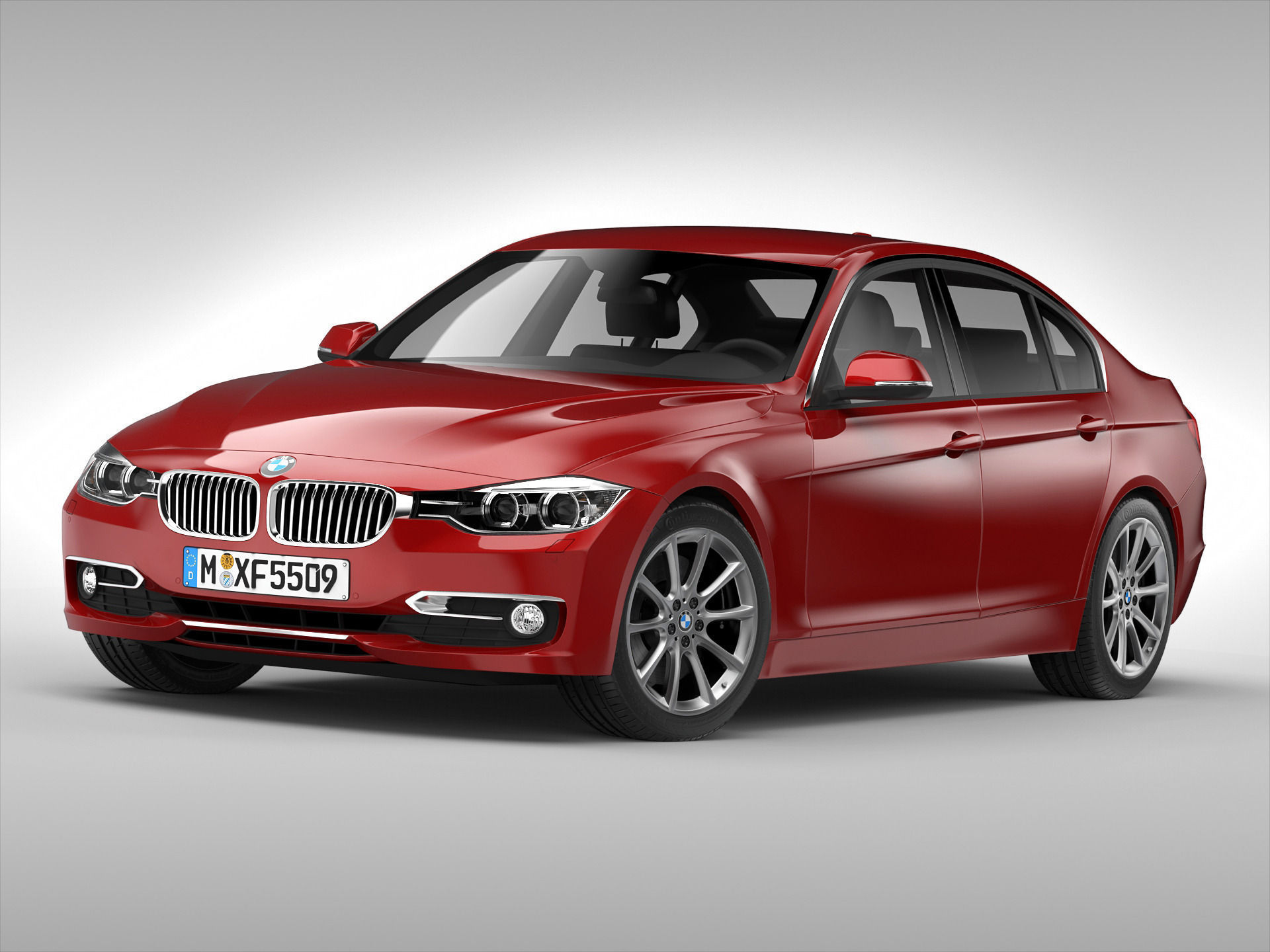 bmw 3 series f30 2013 3d model max obj 3ds fbx. Black Bedroom Furniture Sets. Home Design Ideas