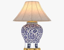 3d  ralph lauren marlena large table lamp in blue and white