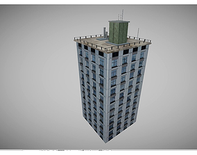 3D asset low poly city buidling