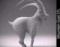 Mountain goat STL 3D print model