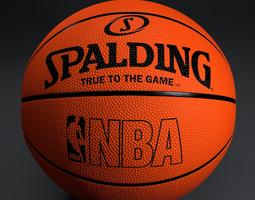 basketball spalding 3d model obj 3ds fbx blend dae mtl