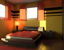 3D model Mr Bedroom 02