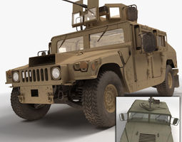 military humvee hmmwv 3d model max obj 3ds fbx c4d lwo lw lws