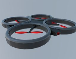 quadcopter 3D asset