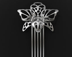 orchid hairpin 3d print model