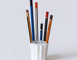 3d printable model 12 pencil pot