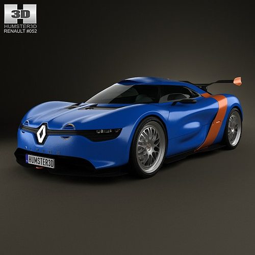 Renault Alpine: 3D Renault Alpine A110-50 2012