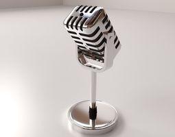 3d model retro microphone v2