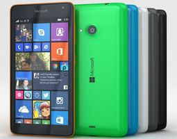 game-ready microsoft lumia 535 and dual sim all colors 3d model
