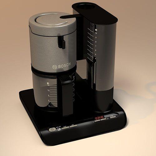 bosch coffee maker 3d model obj mtl 3ds 3dm dwg 1